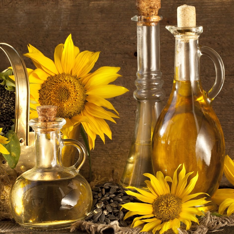 Refined sunflower oil// Unrefined // Winterized // First-class press// BULK