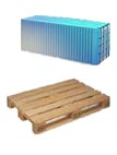 Pallet dimensions and position in container