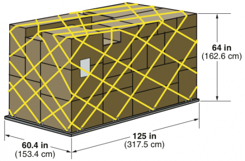 Air cargo ULD containers: PLA Half Pallet dimensions